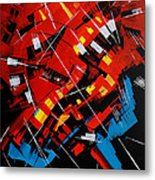 Urban Communication Metal Print