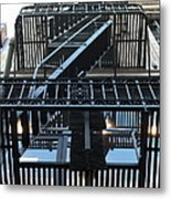 Urban Fabric - Fire Escape Stairs - 5d20592 Metal Print