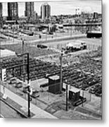 urban farm on unused lot at concord pacific place at false creek Vancouver BC Canada Metal Print