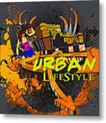 Urban Lifestyle Metal Print