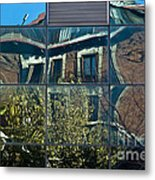 Urban Reflections Madrid Metal Print by Frank Tschakert