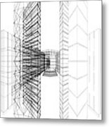 Urban Skyscrapers Metal Print by Nenad Cerovic