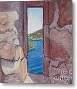 Archers' Window Urquhart Ruins Loch Ness Metal Print