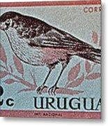 Uruguay Bird Stamp - Circa 1962 Metal Print