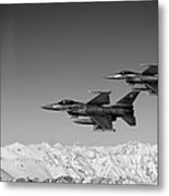U.s. Air Force F-16 Fighting Falcons Over Afghanistan. Metal Print
