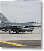 U.s. Air Force F-16c Planes Undergo Metal Print