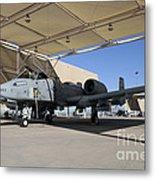 U.s. Air Force Pilot Performs Final Metal Print