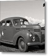 Us Army Dodge Staff Car Metal Print