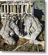 U.s. Army Europe Soldiers Perform Metal Print