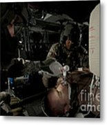 U.s. Army Medics Simulating Ventilation Metal Print