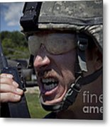 U.s. Army Sergeant Testing Metal Print