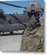 U.s. Army Soldier Stands Ready To Load Metal Print