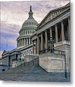 Us Capitol Building And Senate Chamber Metal Print