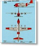 Coast Guard Hc-130 B Hercules Metal Print