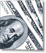 Us Dollar Bills  Metal Print