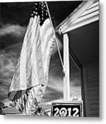 Us Flag Flying And Barack Obama 2012 Us Presidential Election Poster Florida Usa Metal Print by Joe Fox