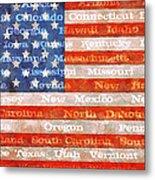 Us Flag With States Metal Print