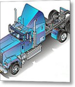 Us Heavy Truck Metal Print