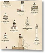 Lighthouses Of The West Coast Metal Print