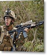 U.s. Marine Corps Machine Gunner Metal Print