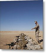 U.s. Marine Corps Officer Directs Metal Print