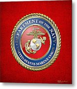 U. S. Marine Corps - U S M C Seal  Metal Print