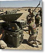 U.s. Marines Assemble A Support Wide Metal Print