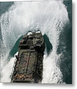 U.s. Marines Drive An Assault Metal Print