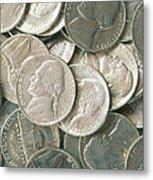U.s. Nickels Metal Print