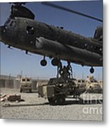 U.s. Soldiers Attach Sling Load Ropes Metal Print