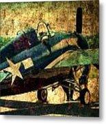 Us Ww II Grumman F4f Wildcat Fighter Plane Metal Print