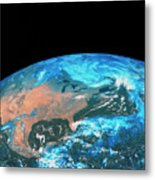 Usa & Mexico From Space Metal Print