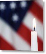 Usa, California Burning Candle Metal Print