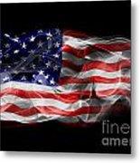 Usa Flag Smoke  Metal Print