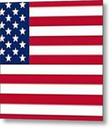 Usa Flag Metal Print by Tilen Hrovatic