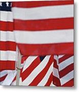 Usa Flags 02 Metal Print