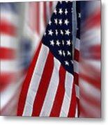 Usa Flags 03 Metal Print