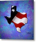 Usa Flagtexas State Digital Artwork Metal Print