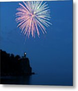 Usa, Minnesota, Two Harbors, Split Rock Metal Print