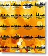 Usa Skylines 3 Metal Print