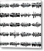 Usa Skylines 4 Metal Print