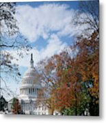 Usa, Washington Dc, View Of Capitol Metal Print