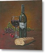 Usa Wine Metal Print