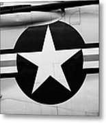 Usaf Star And Bars Insignia On A Mcdonnell F3b F3 Demon  Metal Print