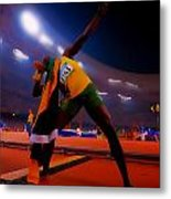 Usain Bolt Number One Metal Print