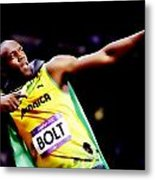 Usain Bolt Sweet Victory II Metal Print