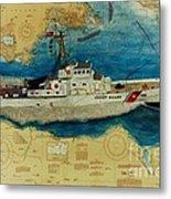 Uscg Cuttyhunk Nautical Chart Art Peek Metal Print