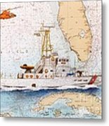 Uscg Sapelo Helicopter Fl Nautical Chart Map Art Peek Metal Print