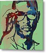 Usher Raymond Iv  - Stylised Pop Art Sketch Poster Metal Print