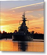 Uss Battleship Metal Print